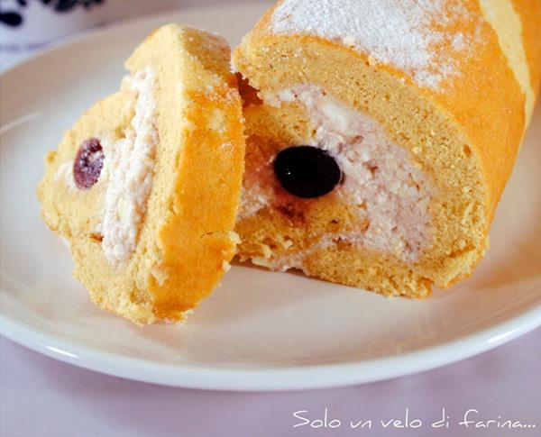 Ricotta and Amarena Swiss Roll